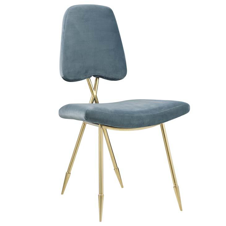 stratus gold velvet chair mint blue 1