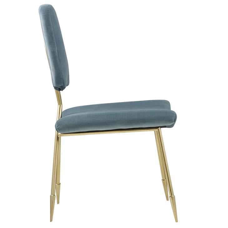 stratus gold velvet chair mint blue 2