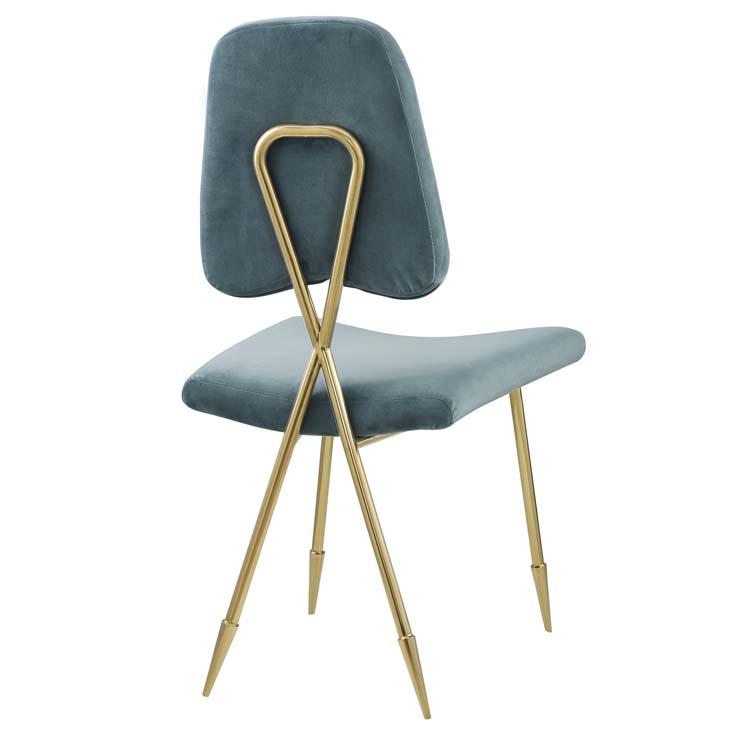 stratus gold velvet chair mint blue 3