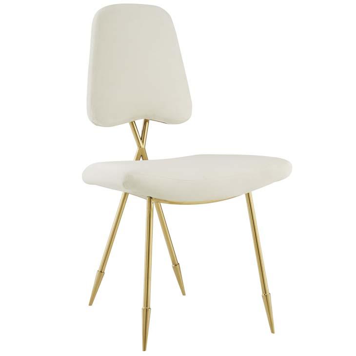 stratus gold velvet chair white 1