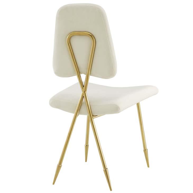stratus gold velvet chair white 3