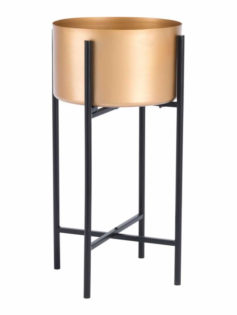 Gold Black Planter Stand