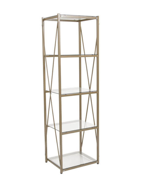 Gold Glass Shelving Unit 461x615