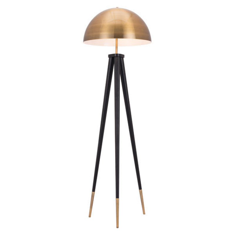 Jema Gold Dome Floor Lamp 2