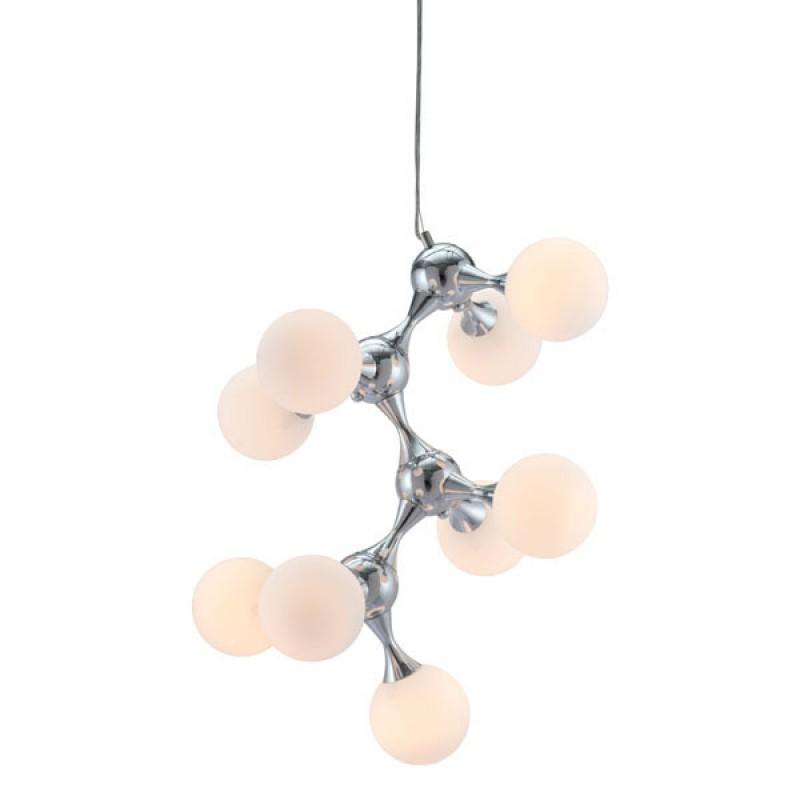 Mod Sphere Silver Chandelier 1