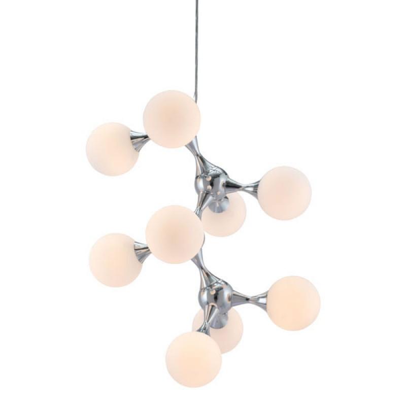 Mod Sphere Silver Chandelier 2