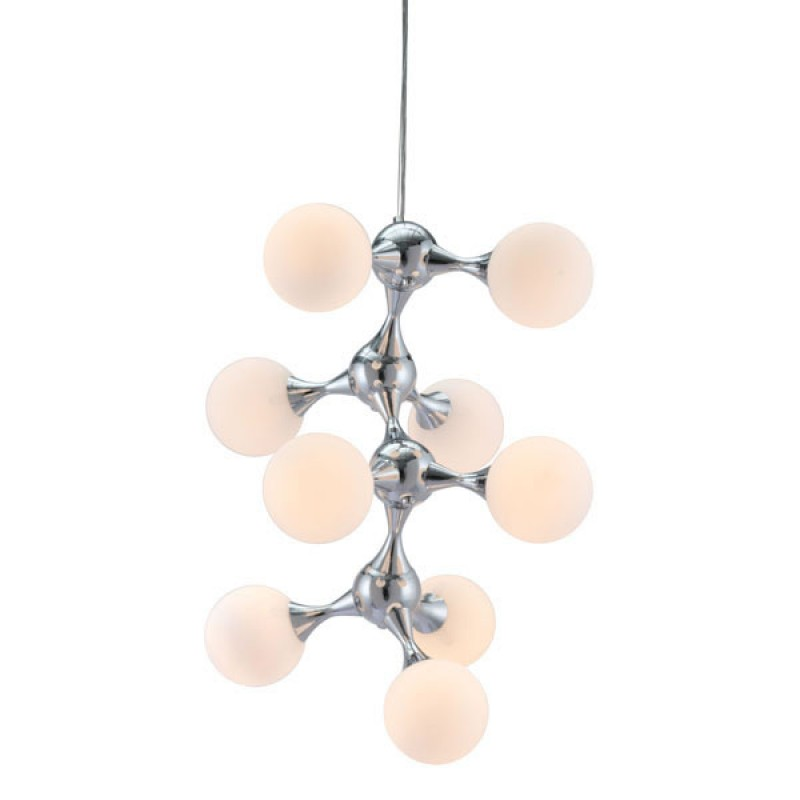 Mod Sphere Silver Chandelier 3