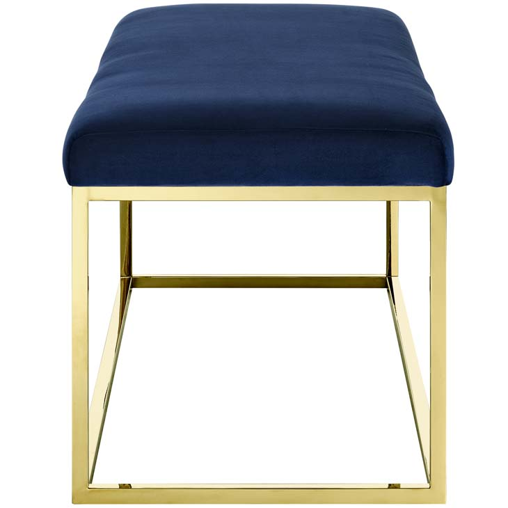 metallic gold bench gold navy 2