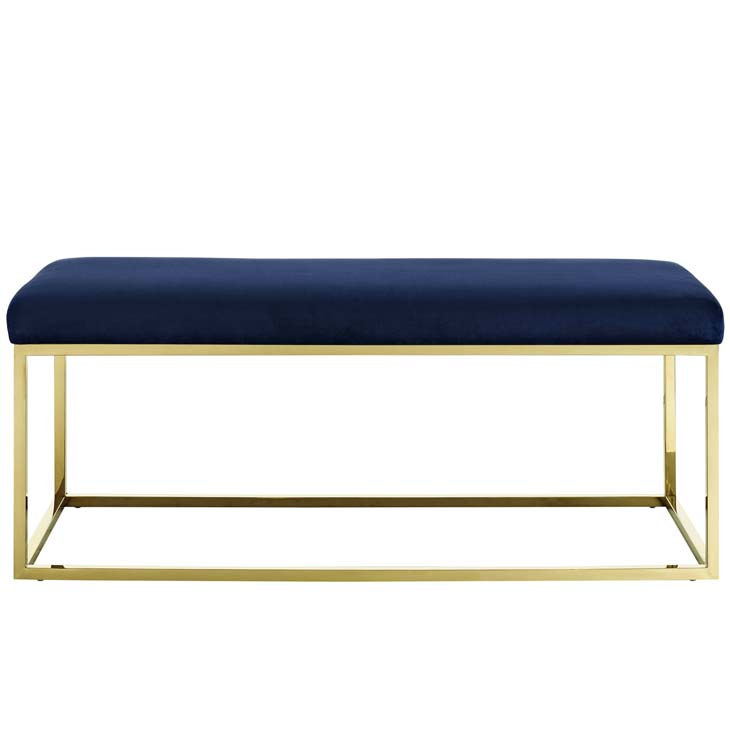 metallic gold bench gold navy 3