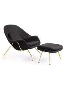 Book nook gold chair ottoman set  237x315