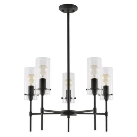 crisp glass black metal chandelier 2 461x461