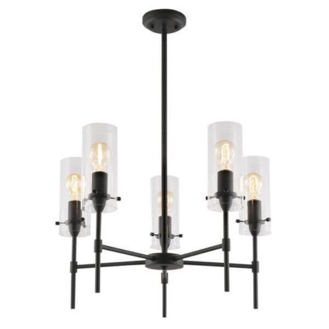 crisp glass black metal chandelier 3 461x461
