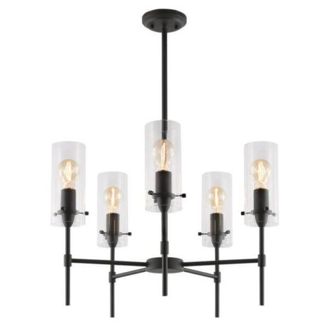 crisp glass black metal chandelier 4 461x461