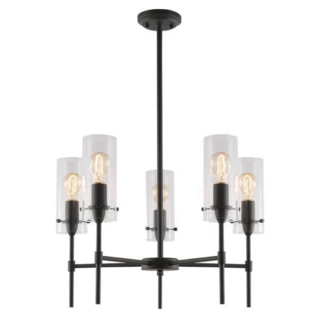 crisp glass black metal chandelier 461x461