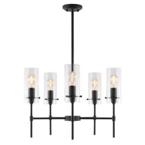 crisp glass black metal chandelier 5 461x461