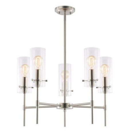 crisp glass silver metal chandelier 2 1 461x461