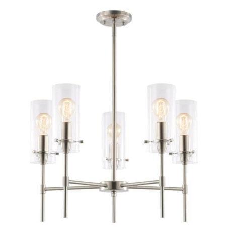 crisp glass silver metal chandelier 2 461x461