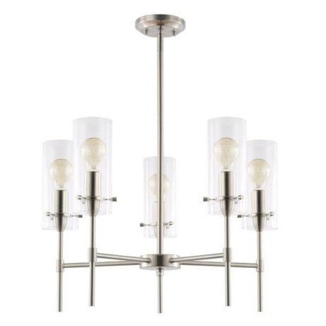 crisp glass silver metal chandelier 3 461x461
