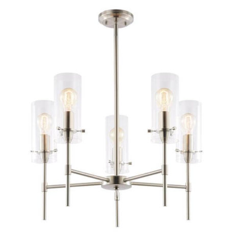 crisp glass silver metal chandelier 4 461x461