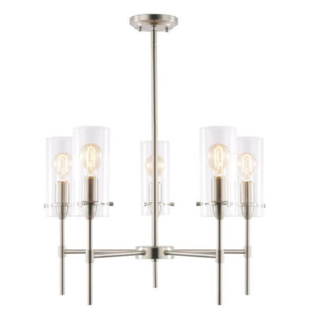 crisp glass silver metal chandelier 461x461