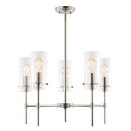 crisp glass silver metal chandelier 5 461x461