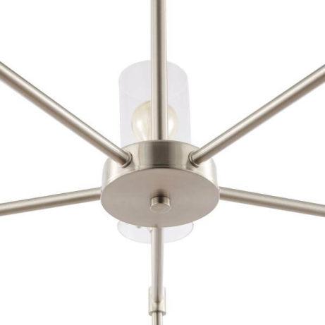 crisp glass silver metal chandelier 7 461x461