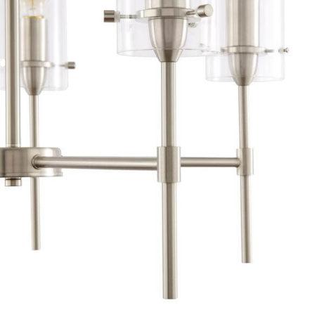 crisp glass silver metal chandelier 8 461x461