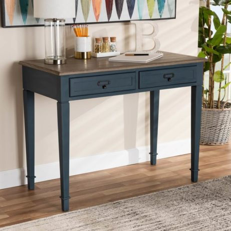 Blue Wood Accent Table 6 461x461