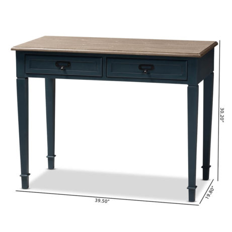 Blue Wood Accent Table 8 461x461