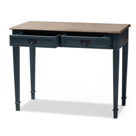 Blue Wood Accent Table 9 461x461