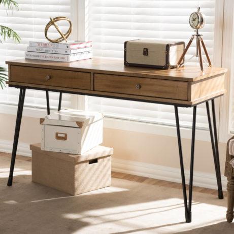 Natural Wood Writing Desk 7 461x461
