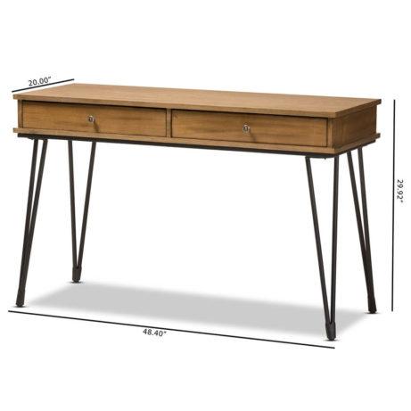 Natural Wood Writing Desk 9 461x461