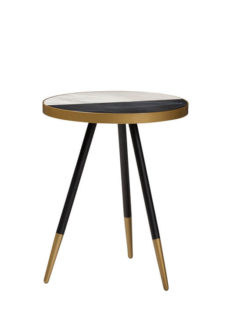 Select Black White Marble Side Table 1 237x315